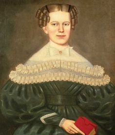 Erastus Salisbury Field (1805–1900)  New England  c. 1835–1838  Oil on canvas  30 x 26 in.  American Folk Art Museum, purchase with funds from the Jean Lipman Fellows, 1999.5.1  The unidentified subject of this portrait was painted during the period judged to be Erastus Salisbury Field's most successful, from the mid-1830s until the mid-1840s. The woman's fresh face, with clear gaze and heightened color in the cheeks, is set against a soft taupe background that emanates in light, cloudlike…