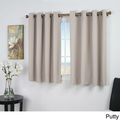 Ricardo Ultimate Blackout 45 Inch Short Length Grommet Curtain Panel 56w X