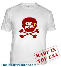 #Caf-Pow! The drink of Abby of NCIS. #NCIS graphic art design on T-Shirts, Sweatshirts, Hoodies, bags, #smartphone cases and more
