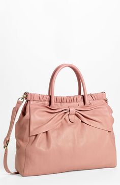 If money weren't an object.  SO pretty in pink. RED Valentino Leather Tote available at #Nordstrom