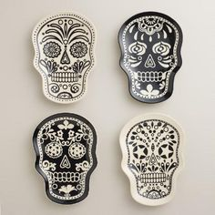 DIA DE LOS MUERTOS/DAY OF THE DEAD~One of my favorite discoveries at WorldMarket.com: Muertos Plates, Set of 4