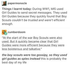 I can imagine fucking America talking to Girl Scouts and having news delivered t. - I can imagine fucking America talking to Girl Scouts and having news delivered to the front with co -