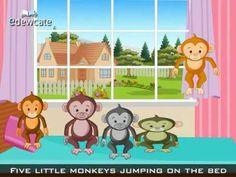 Boys favorite!  Five little monkeys jumping on the bed