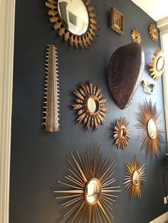 Collection de miroirs soleil et sorcières. Vous pouvez me retrouver dans ma boutique d'antiquités sur EBay: nantes-antiques