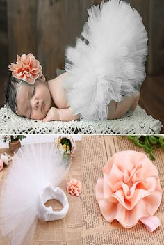 CC549WH White Tulle Tutu Infant Adjustable With Matching Headband - Backdrop Outlet