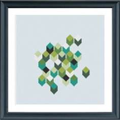 modern cross stitch pattern geometric PDF pattern  instant