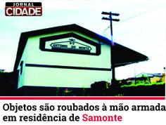 Os indivíduos saíram de um lote e renderam as vítimas, levando-as até um dos quartos da residência.  Saiba mais: http://www.jornalcidademg.com.br/objetos-sao-roubados-mao-armada-em-residencia-de-samonte/