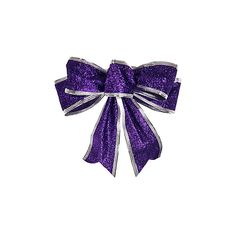 [USD $ 2.29] - Christmas Purple Textile Bowknots with Silver Powder ($1.99) ❤ liked on Polyvore