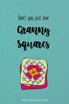 ... easy, simple, beautiful. If you can crochet, chances are you probably learnt on a granny square! Fabric Yarn, Just Love, Fabric Design, Weaving, Stitch, Knitting, Simple, Crochet, Easy