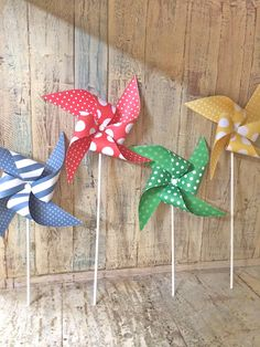 Pinwheels - On the Farm Collection - Primary Color Birthday Party - Farm Birthday Party - Circus Party on Etsy, $23.00
