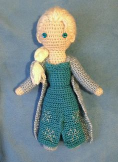 "Elsa Doll - Disney's Frozen- Free Amigurumi Pattern - PDF File - click ""download"" or ""Free Ravelry download"" here: http://www.ravelry.com/patterns/library/elsa---crocheted-doll"