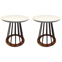Pair of Danish Modern Teak Stands