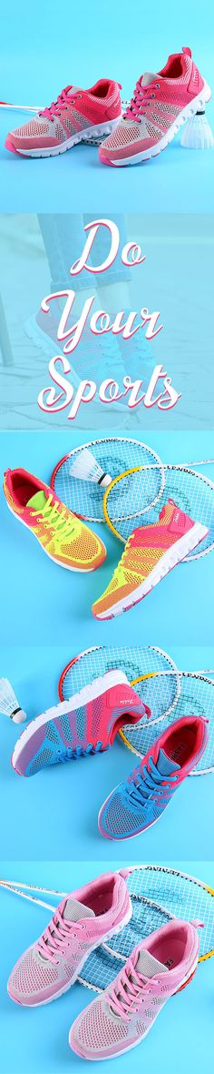 c36dca6dd89 US 23.66 Womens Breathable Cushioning Mesh Jogging Sport Shoes  tennisshoes   sportyshoes  comfyshoes