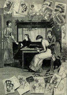 Christmas Greetings (1882): Greetings by Sydney Grey.