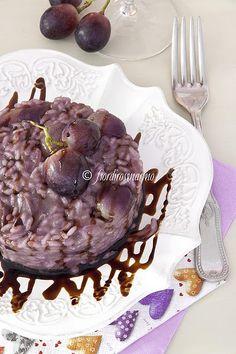Risotto all'uva nera e Nero d'Avola Risotto, Wine Online, Italian Recipes, Food To Make, Rice, Pasta, Yummy Food, Foods, Gastronomia
