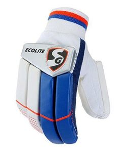 Nwt Sg Ecolite Cricket Batting Gloves Adult White Rhb Lightweigh Free Shipping