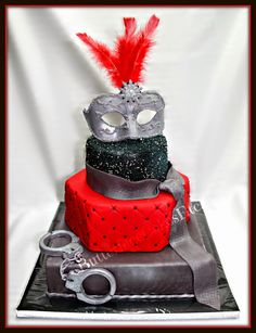 50 Shades of Grey Cake 30th Party, 40th Birthday Parties, Cupcakes, Cupcake Cakes, 50 Shades Party, 50 Shades Of Grey, Fifty Shades, Pool Party Themes, Party Ideas
