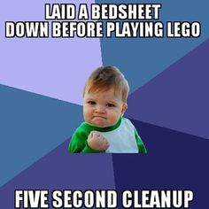 PARENTING HACK. Lego clean up!