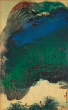 Property from the Museum of Modern Art, New York, Zhang Daqian  Landscape in Afterglow