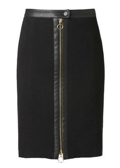 Jupe zippée  Noir by GERARD DAREL Rock Outfits, Skirt Outfits, Blouse And Skirt, Dress Skirt, Sewing Blouses, Sleeves Designs For Dresses, Stylish Clothes For Women, Fashion Photography Inspiration, Cute Skirts