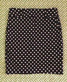 Black & White Polka Dot Pencil Skirt ~ NWOT ~ Sz S / P ~ Zipper Detail ~ Buy Now on eBay!  #Forever21 #Pencil