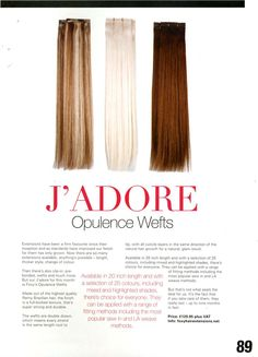 Extensions feature in Salon Business. #FoxyHairExtensions
