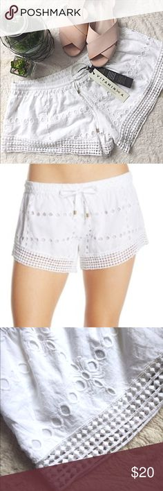 Vitamin A Eyelet Beach Shorts These are perfect for beach season! 🌴 Shorts feature crisp white eyelet cotton and are in pristine condition. BNWT. Nordstrom Shorts