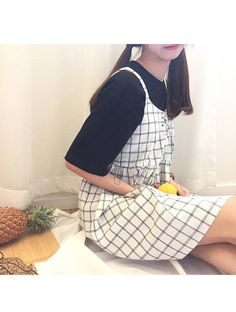 "itGirl Shop GRID BLACK WHITE BLUE PLAID SUMMER STRAPS DRESS 💝Use coupon ""ITPIN"" to get 10% OFF entire order - itgirlclothing.com | itGirl Shop #kfashion #korean #fashion #tumblr #southkorean #ulzzang #streetstyle #aesthetic #clothing #apparel #kawaii #cute #women #indie #grunge #pastel #kawaiifashion #pale #style #shop #buy #store #online #kawaiishop #freeshipping #free #shipping #worldwide #palegoth #softgrunge #softgoth #minimalism #inspiration #goals #outfit #itgirlclothing #itgirlshop"