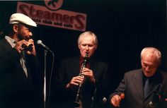 """Hubert Laws, Mort Weiss and Terry Gibbs"" @ All About Jazz photo gallery. View more jazz photos by Steve Gugerty"