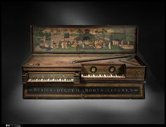 Double Virginal  The earliest known keyboard by Hans Ruckers dated 1581 and built in Antwerp. Made for the Viceroy of Peru.