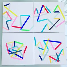 """'Zip' – a series of improvised one-off screen prints by Frea Buckler – reflect a fascination with illusion and perception: """"I like the idea that our eyes and brain automatically create something out of something flat"""". Math Books, Online Print Shop, One Color, Colour, Affordable Art, Geometric Art, Limited Edition Prints, Looking Up, Decoration"""