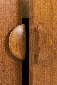 Detail of teak sideboard designed by Tove & Edvard Kindt-Larsen at Studio Schalling http://schalling.se/furnitures/11378/tove-edvard-kindt-larsen-sideboard