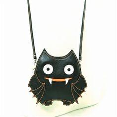 WonderMolly.com Sleepyville Critters-Batty Bat Bat Cross body shoulder bag in faux leather