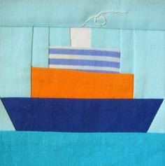 Ship Paper pieced PDF Pattern quilt block. $2.70, via Etsy.