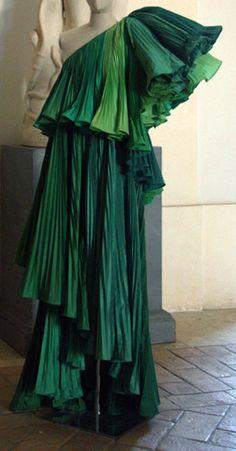 Roberto Capucci - Haute Couture - Robe de Soirée 'Sculpture' - Dégradé de Vert