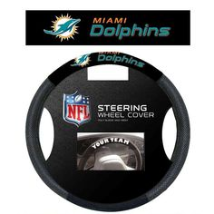 Miami Dolphins NFL Mesh Steering Wheel Cover