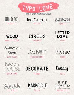 * Ann.meer: Lovely fonts # 3