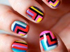 Nail Designs for Short Nails   ... -for-short-nails-fashionable-tribal-nail-art-for-short-nail-ideas.jpg