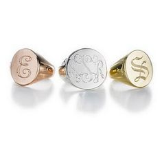 monogram ring - in the 70s we all had one of these