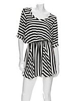Daytime shopping  Silk dolman sleeve striped dress  Mason