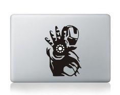 Macbook Decals Macbook Stickers Mac Decals Mac Stickers Vinyl Decal for Apple Laptop Macbook Pro / Macbook Air / iPad--- Iron Man