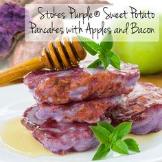 Stokes Purple® Sweet Potato Pancakes with Apples and Bacon | Frieda's ...