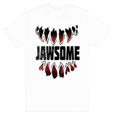 JAWSOME - The street sharks where some of the most badass mutated teens around. They knew how to devour a pizza and kick evil's ass with no problem at all! Get jawsome with this great 90's themed design!