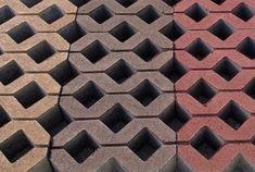 Színes beton gyeprács