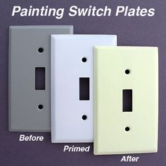 Painting Switch Plates: How to Paint Wall Plates - Tips & Instructions