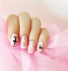 Ballet Shoes by faeriedustnails from Nail Art Gallery                                                                                                                                                                                 More