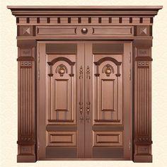 Main Entrance Door Design, Wooden Front Door Design, Wooden House Design, Double Door Design, Room Door Design, Door Design Interior, House Main Gates Design, Door Entry, Entrance Doors