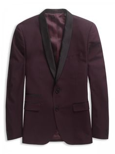 This deep burgundy tuxedo blazer really stands out from the crowd #plectrum #bensherman