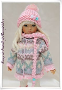 """Pink Gray Outfit Set for Dianna Effner 13"""" Little Darling by Heavenly Marie   eBay"""