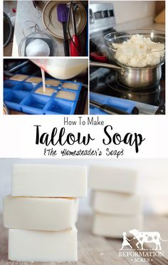 How To Make Tallow Soap {The Homesteader's Soap}
